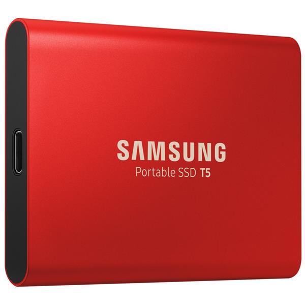 Samsung 500GB T5 USB-C Gen2 Portable SSD Drive (Red) - 540MB/s