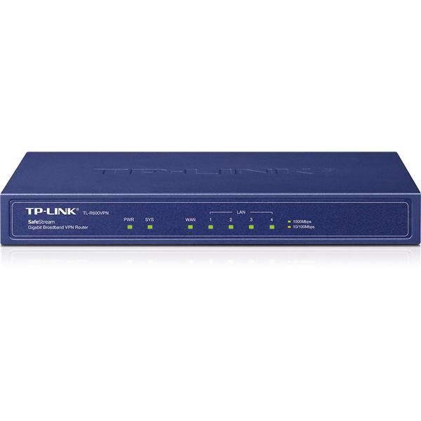 TP-Link SafeStream TL-R600VPN 5-Port Gigabit Broadband VPN Router (Blue)