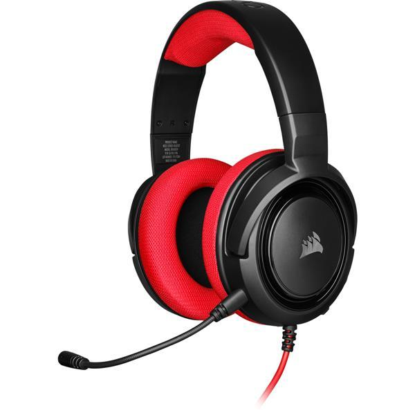 Corsair HS35 Stereo Gaming Headset Red 50mm