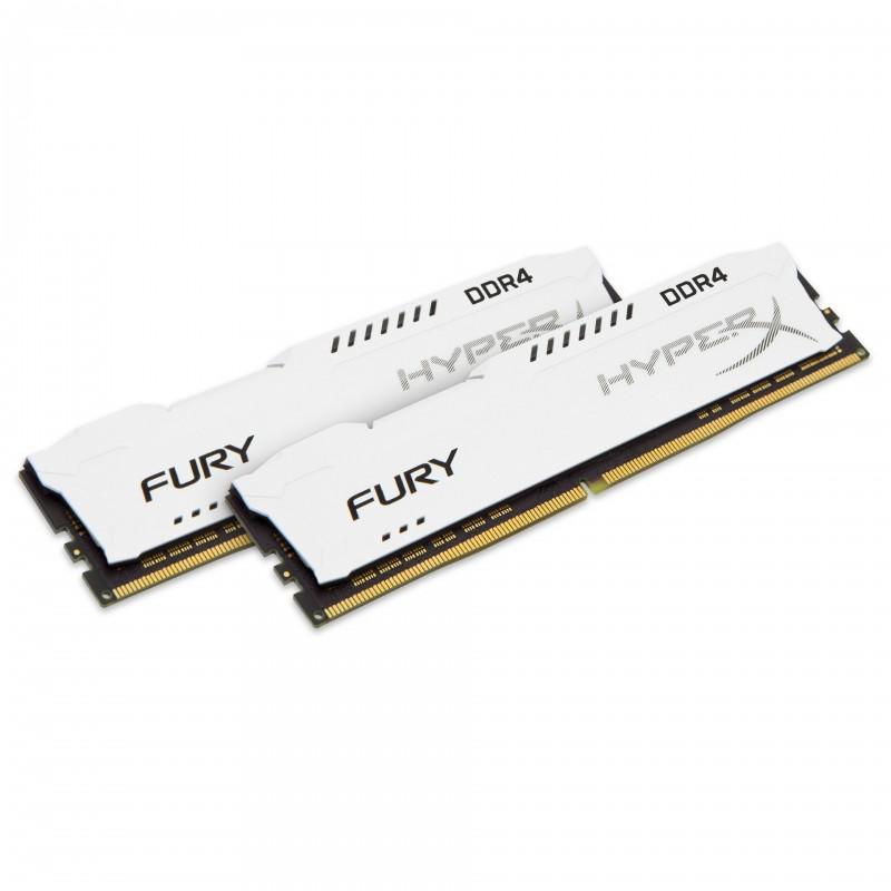 HyperX FURY White 32GB (2x16GB) Memory Kit PC4-25600 3200MHz DDR4 CL18 288-Pin DIMM 1.2V