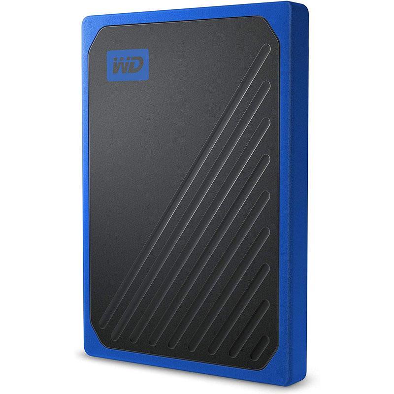 WD 1TB My Passport Go Portable SSD Drive - Black/Blue