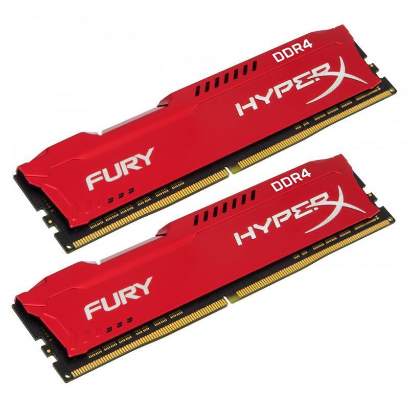 Kingston HyperX FURY Red 16GB (2x8GB) Memory Kit PC4-25600 3200MHz DDR4 CL18 288-Pin DIMM 1.2V