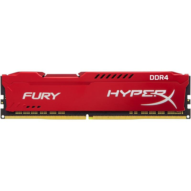 HyperX FURY Red 8GB (1x8GB) Memory Module PC4-23400 2933MHz DDR4 CL17 288-Pin DIMM
