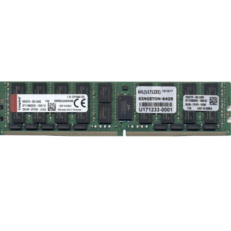Kingston 64GB (1 x 64GB) Memory Module 2666MHz 288-Pin CL19 DDR4 ECC DIMM 4Rx4
