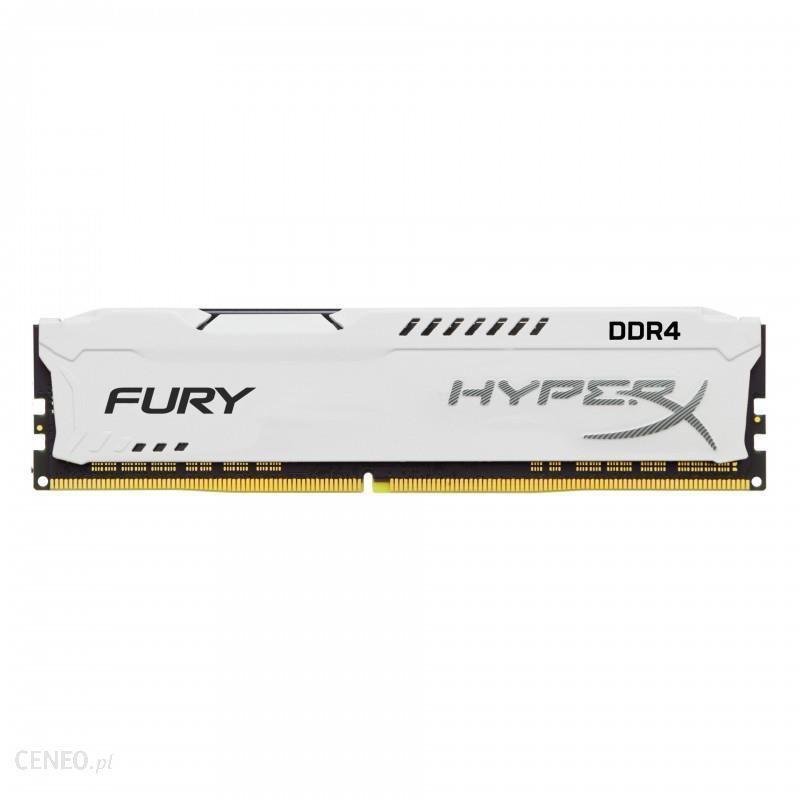 HyperX FURY White 8GB (1x8GB) Memory Module PC4-23400 2933MHz DDR4 CL17 288 Pin DIMM 1.2V