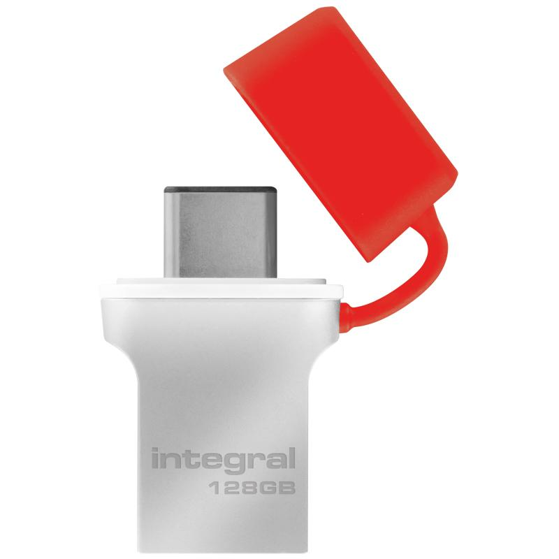 Integral 128GB Fusion USB-C 3.1 Flash Drive - 90MB/s