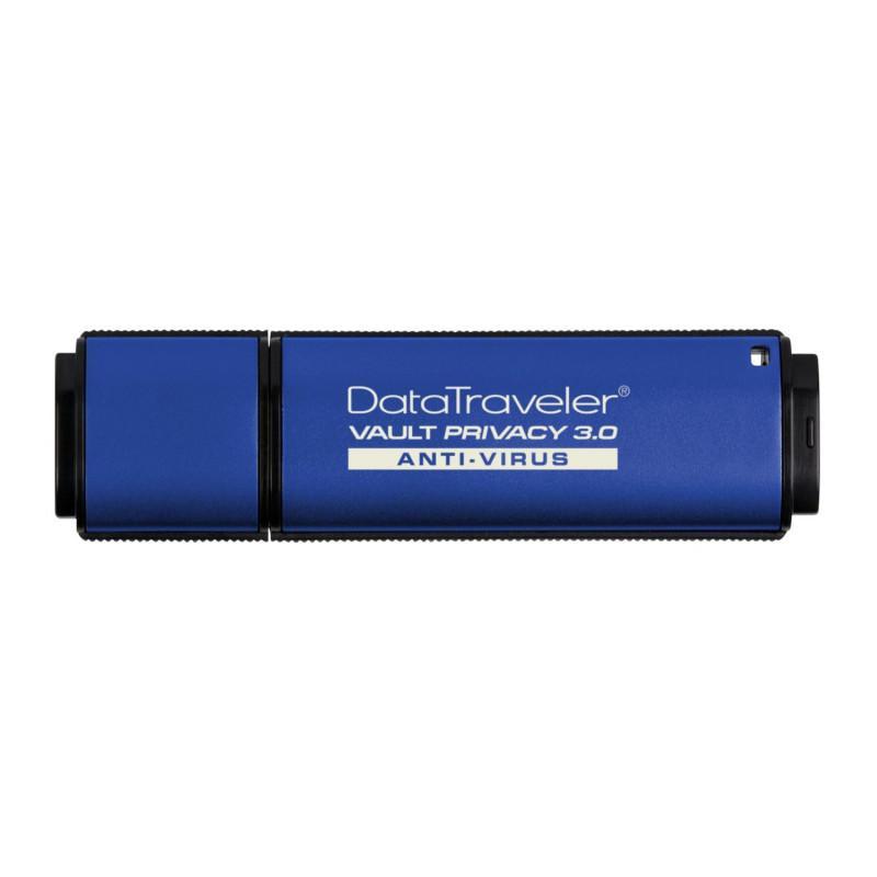 Kingston DataTraveler Vault Privacy Edition 64GB USB 3.0 Anti-Virus Flash Drive 256-bit AES