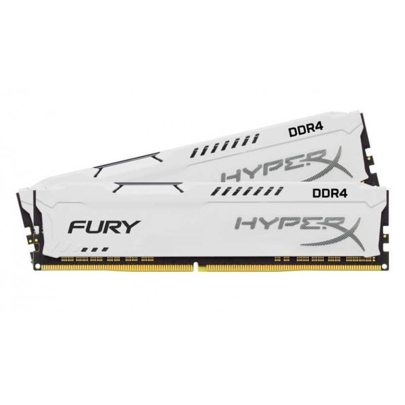 HyperX FURY White 16GB (2x8GB) Memory Kit PC4-23400 2933MHz DDR4 CL17 288-Pin DIMM 1.2V