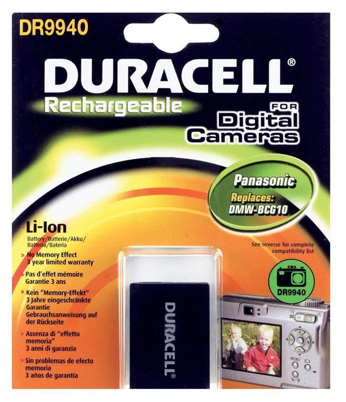 Duracell Panasonic DMW-BCG10 Camera Battery
