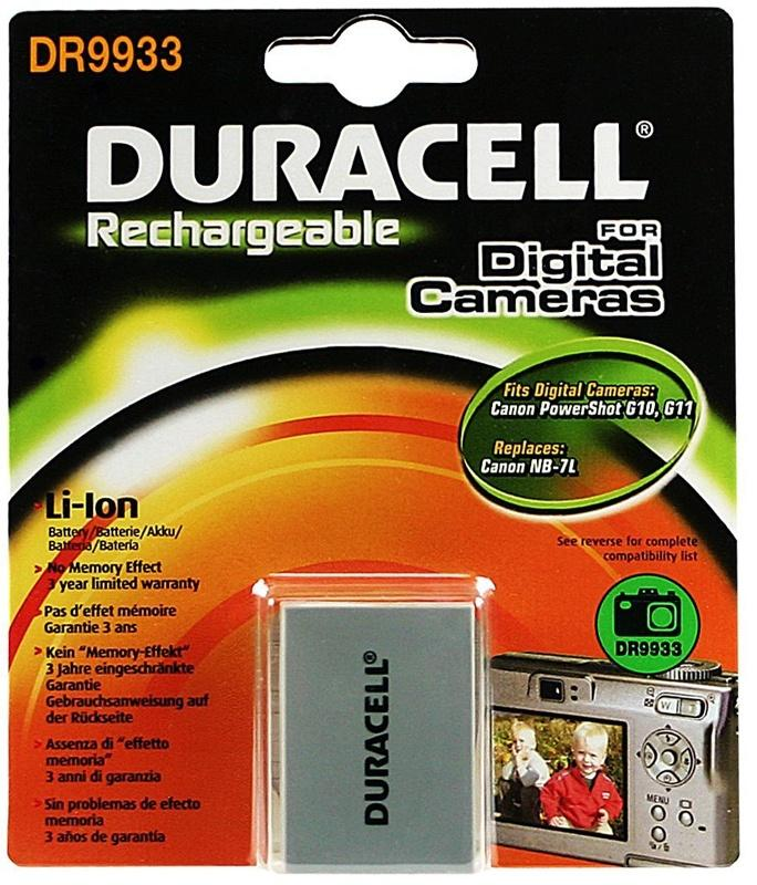 Duracell Canon NB-7L Camera Battery