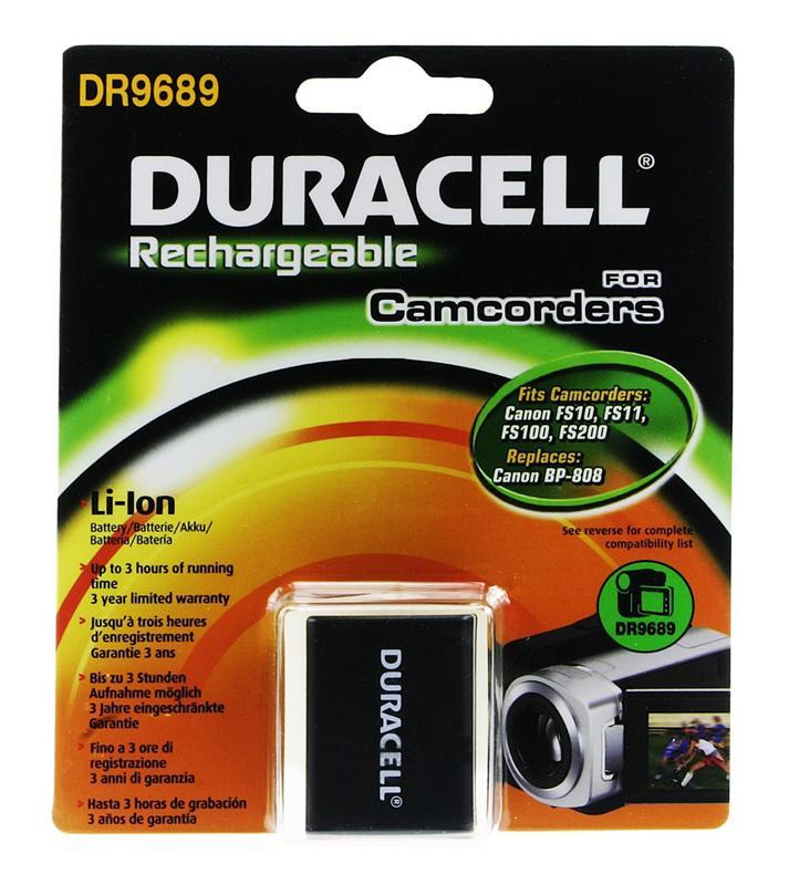 Duracell Canon BP-808 Camera Battery