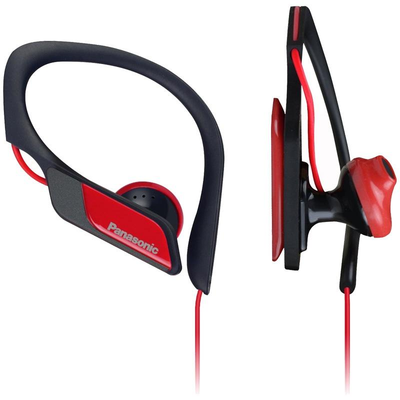 Panasonic Water & Sweat Resistant Sports Earbud Headphones - Red