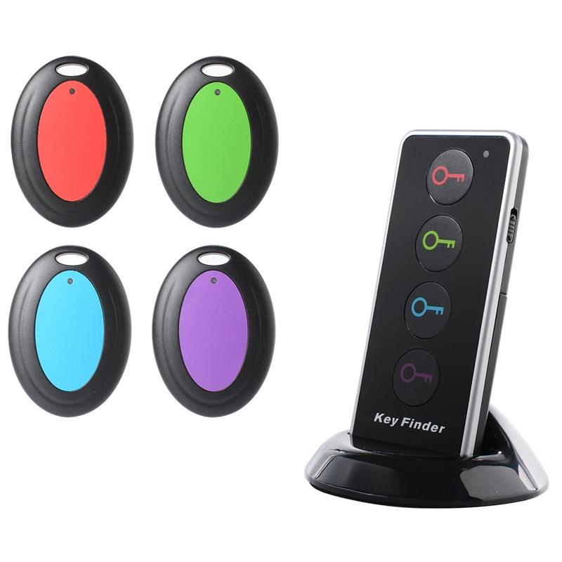 Wireless Bluetooth Key Finder with LED Flashlight and 4 Receivers