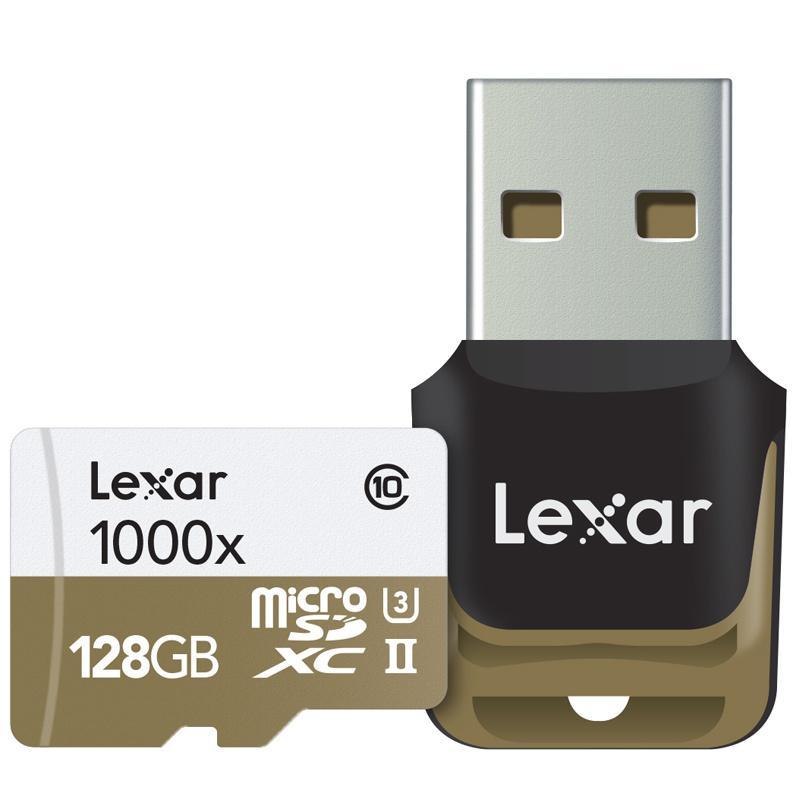 Lexar 128GB Professional Micro SD Card (SDXC) + Card Reader - 150MB/s