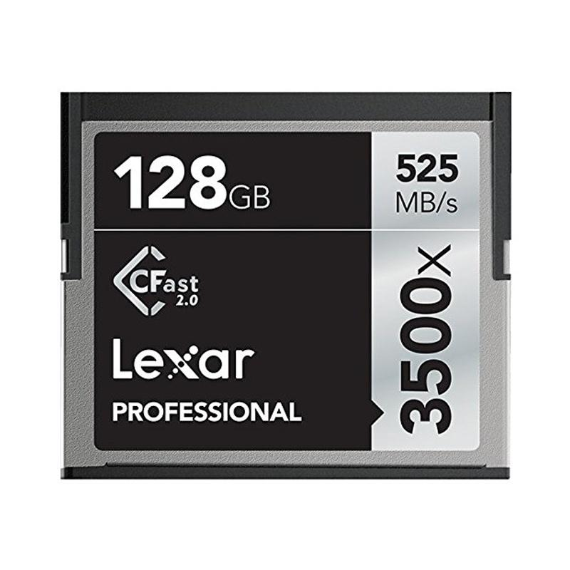 Lexar 128GB 3500X Professional CFast 2.0 Card - 525MB/s