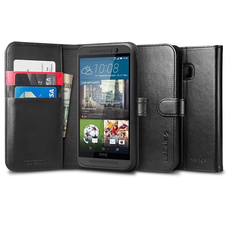 Spigen HTC One M9 Case Wallet S - Black