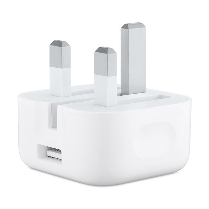 Apple 1A USB Power Adapter with Folding Pins - White (Official)