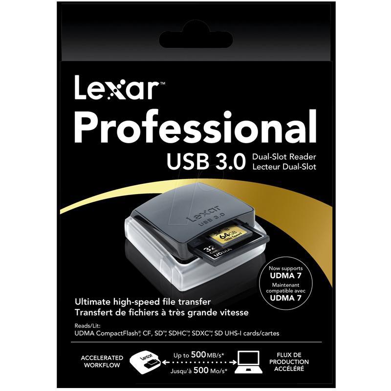 Lexar Professional USB 3.0 Dual Slot Card Reader - 500MB/s