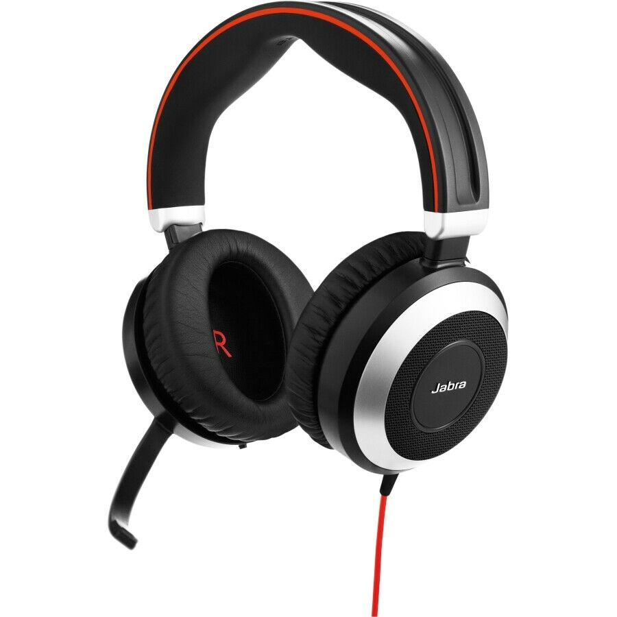 Jabra Evolve 80 MS Stereo Headset with Noise-Cancelling Microphone