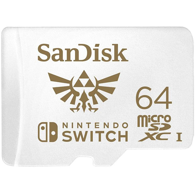 SanDisk 64GB Nintendo Switch Micro SD Card (SDXC) UHS-I U3 - 100MB/s