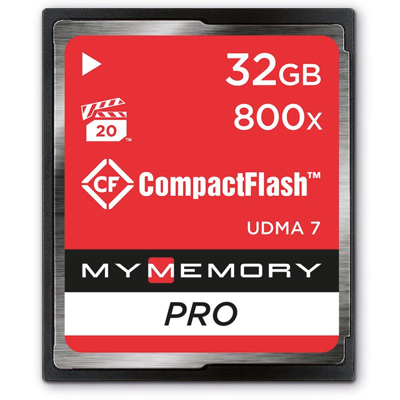 MyMemory 32GB Pro 800X Compact Flash - 120MB/s
