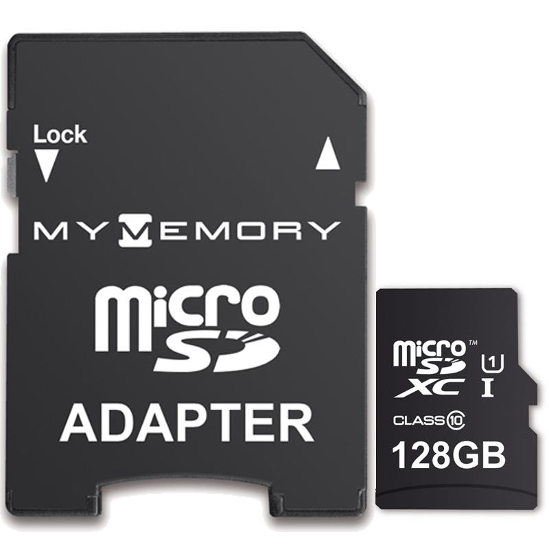 MyMemory 128GB Micro SD Card (SDXC) UHS-I U1 + Adapter - 90MB/s