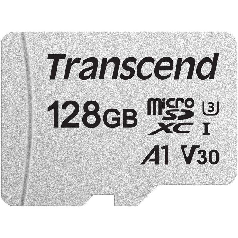 Transcend 128GB 300S V30 Micro SD Card (SDXC) UHS-I U3 - 95MB/s