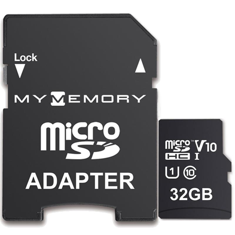 MyMemory 32GB V10 High Speed Micro SD (SDHC) UHS-1 U1 + Adapter - 100MB/s