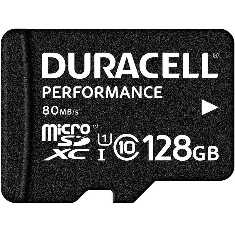 Duracell Performance 128GB Micro SD Card (SDXC) UHS-I U1 - 80MB/s