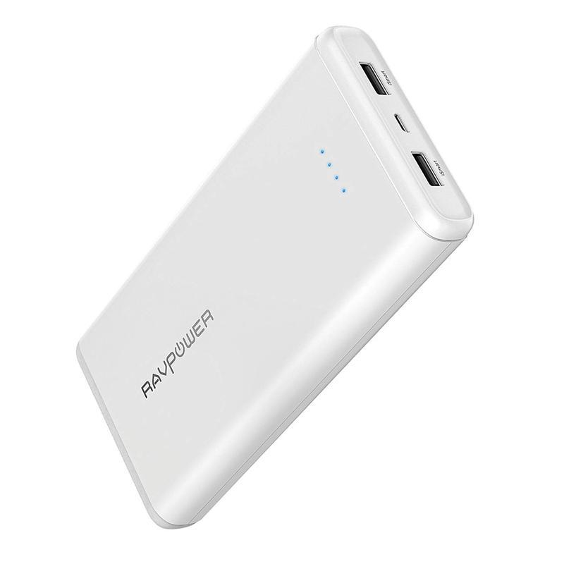 RAVPower 3.4A 20000mAh Portable Power Bank - White