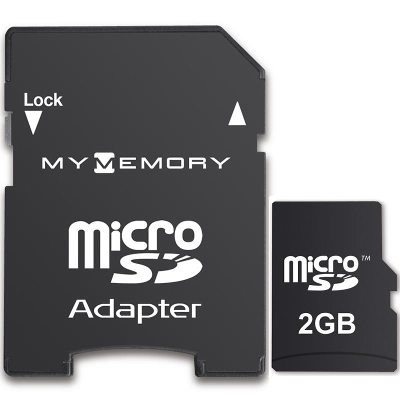 MyMemory 2GB Micro SD Card + Adapter