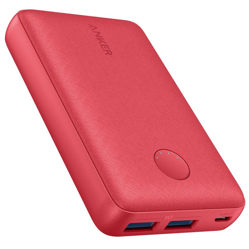 Anker PowerCore Select 12W 10000mAh Portable Power Bank with PowerIQ - Red