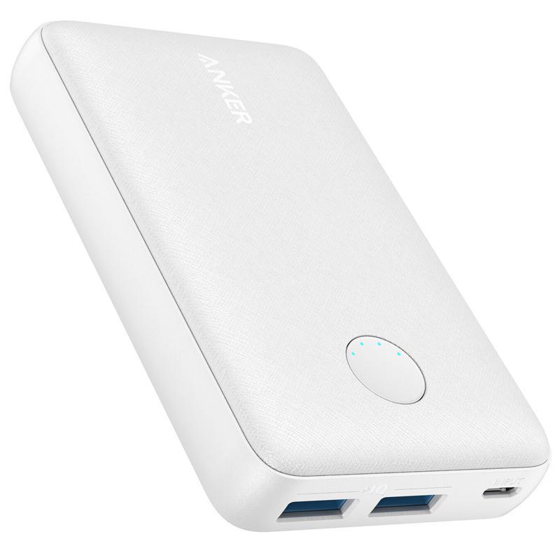 Anker PowerCore Select 12W 10000mAh Portable Power Bank with PowerIQ - White