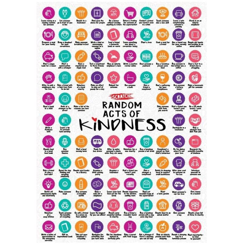 Scratch Poster A2 Size - 100 Random Acts of Kindness