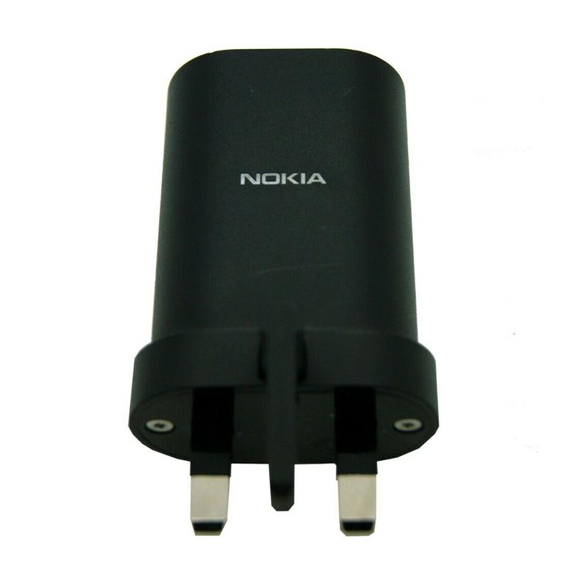 Nokia 18W 3A USB Charging Adapter - Black