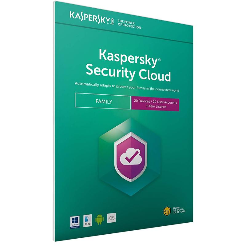 Kaspersky Security Cloud - Family (20 Devices, 1 Year) FFP