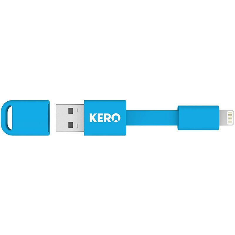 Kero Nomad Lightning to USB Key Ring Data Charging Cable - Blue