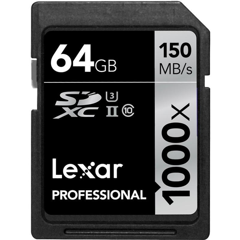 Lexar 64GB Professional SD Card (SDXC) UHS-II U3 - 150MB/s
