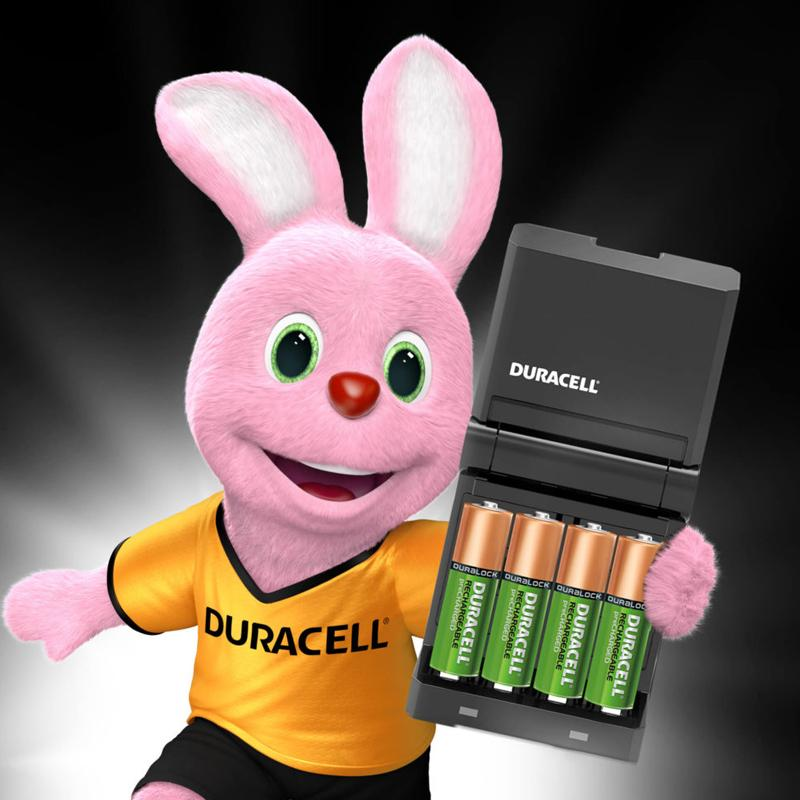 Duracell High-Speed Battery Charger + 2 x 1300mAh AA, 2 x 750mAh AAA Rechargeable Batteries