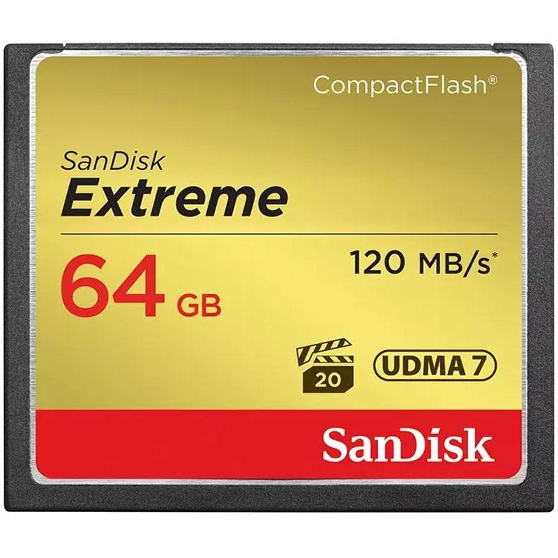 SanDisk 64GB Extreme 800X Compact Flash Card - 120MB/s