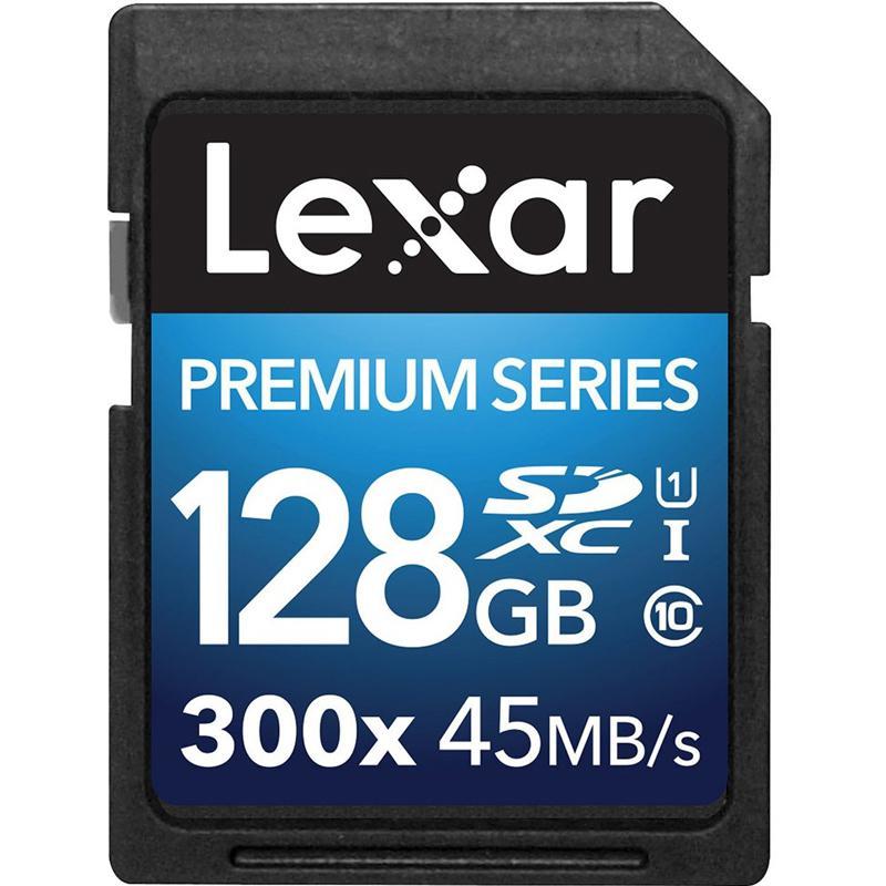 Lexar 128GB Premium II SD Card (SDXC) - 45MB/s