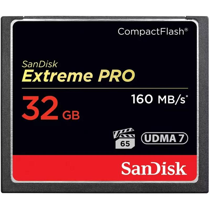 SanDisk 32GB 1067X Extreme PRO Compact Flash Card - 160MB/s