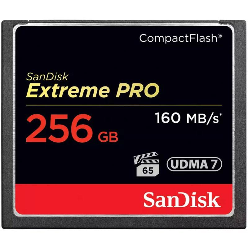 SanDisk 256GB 1067X Extreme PRO Compact Flash Card - 160MB/s
