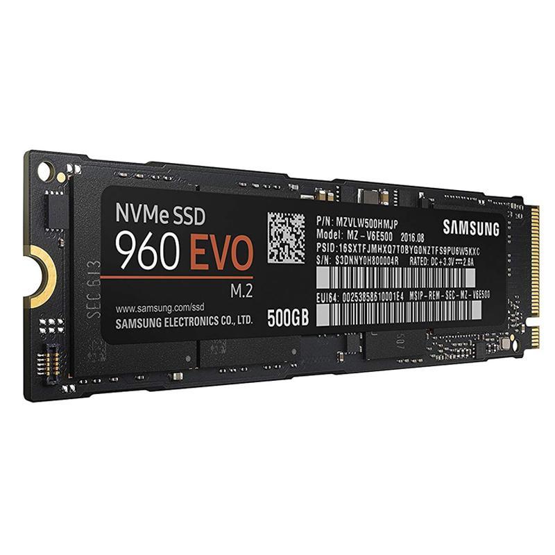 Samsung 500GB SSD 960 EVO Internal NVMe M.2 Solid State Drive - 3200MB/s
