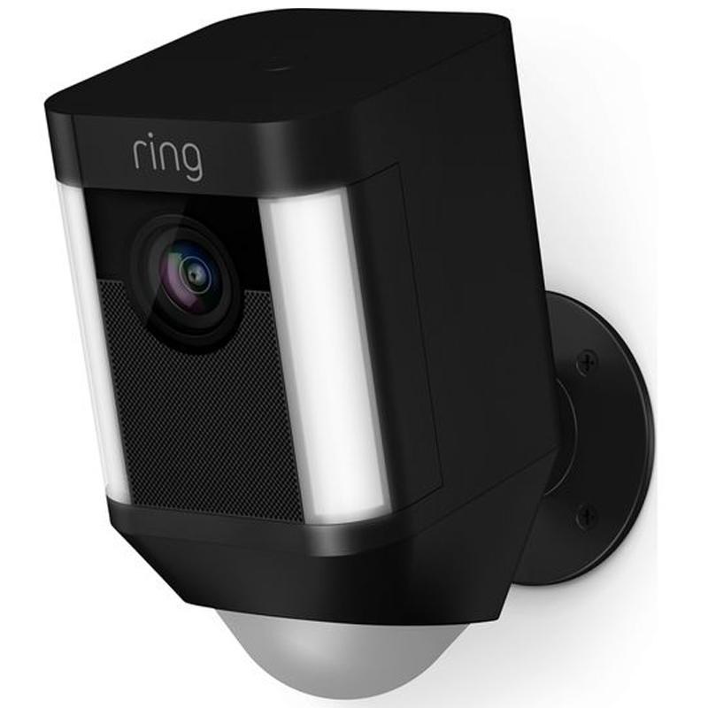 Ring Spotlight Battery Home Security Camera - Black