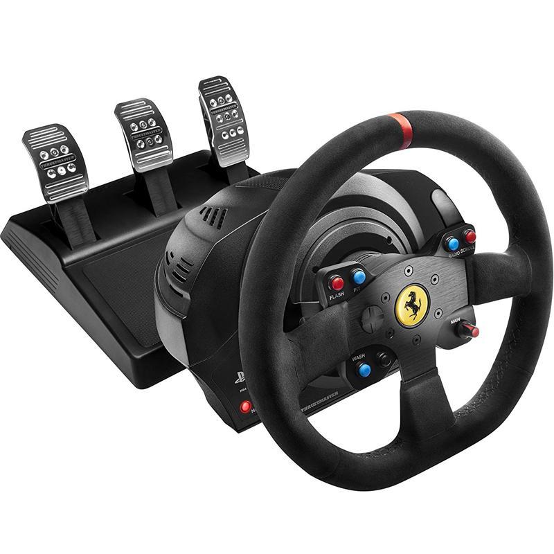 Thrustmaster T300 Ferrari Alcantara Edition Racing Wheel and T3PA 3 Pedal Set (PS3/PS4)