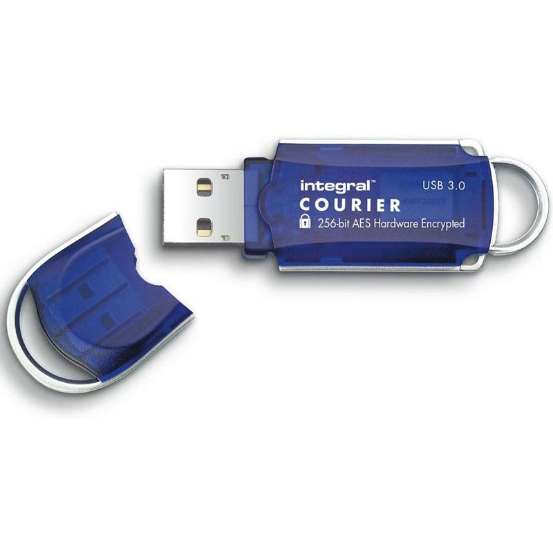 Integral 64GB Courier USB 3.0 FIPS 197 Encrypted Flash Drive - 145MB/s
