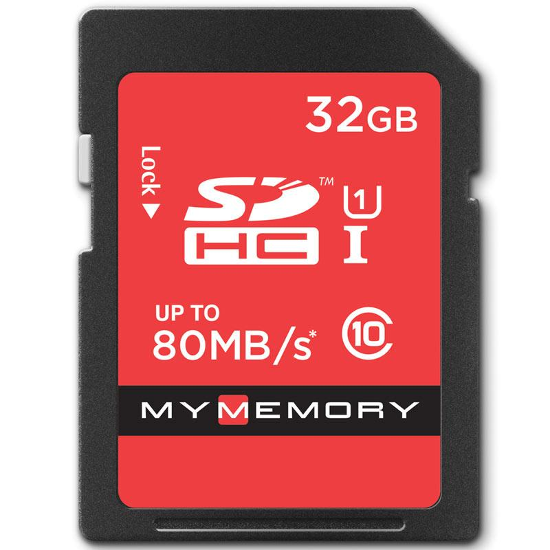 MyMemory 32GB SD Card (SDHC)- UHS-I U1 - 80MB/s