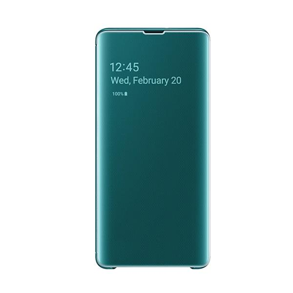 Samsung EF-ZG975 Clear View Cover (Green) for Galaxy S10+