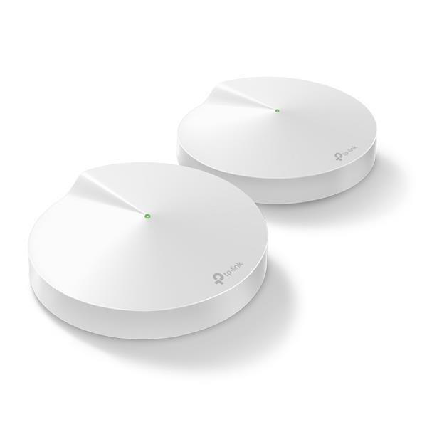 TP-Link Deco M9 Plus Whole Home Mesh Wi-Fi AC2200 System LAN/WAN/USB (2 Pack) - White